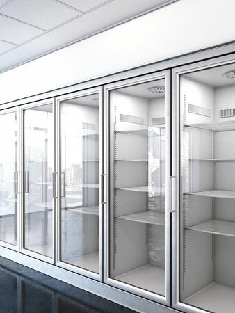 speichern mit einem leeren Kühlschrank