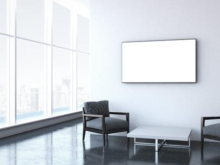 minimalist: Modern waiting room at office.