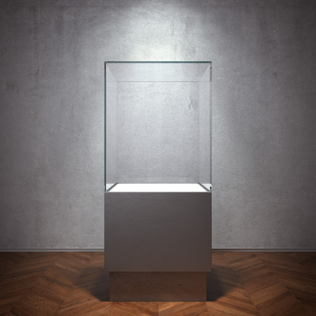 Vitrine d'exposition vide pour Banque d'images - 36824169