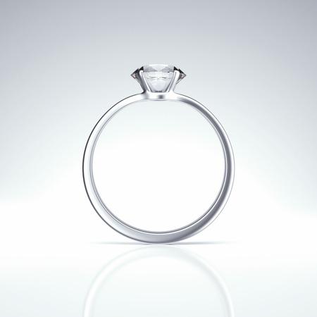 platinum wedding ring: Single diamond ring