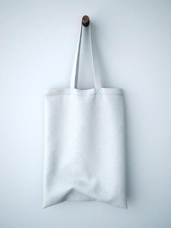 tela algodon: Bolsa de algod�n blanco