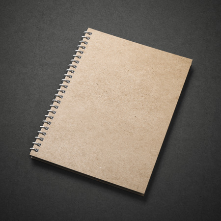 blank book cover: spiral close notebook