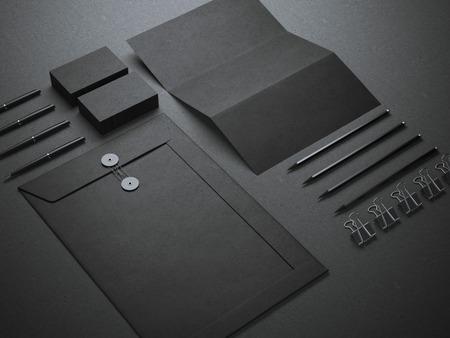 Black branding mockup