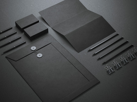 Schwarz Branding Mockup Standard-Bild
