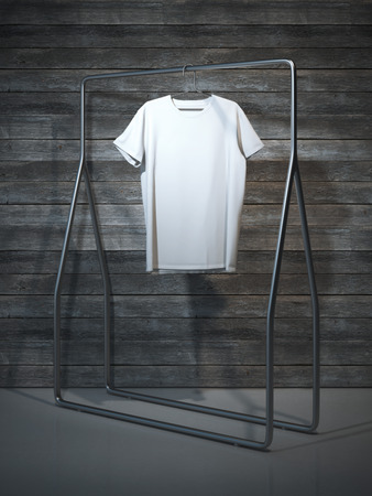 t shirt template: Blank white t-shirt. 3d rendering