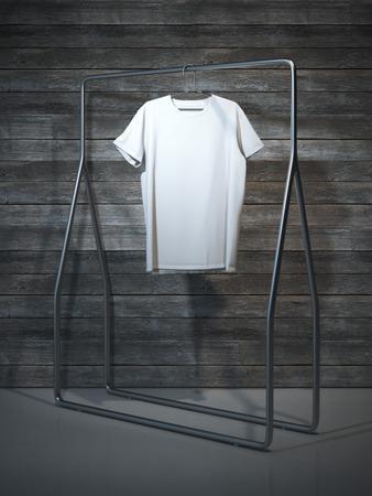 t shirt tshirt: Blank white t-shirt. 3d rendering