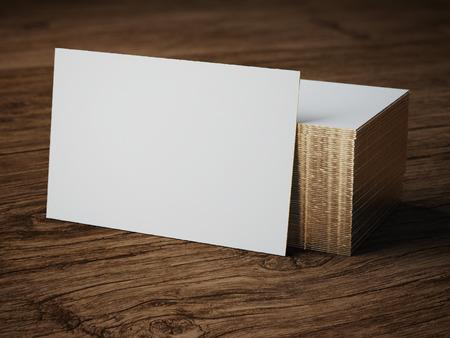 白い商務カード モックアップ 写真素材