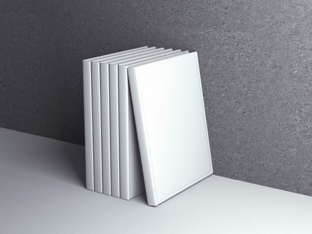mockup: Vertically standing template books