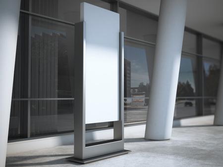 advertising sign: Blank advertising panel. 3d rendering