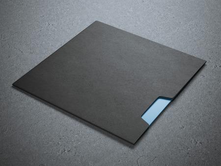 Sobre cuadrado negro
