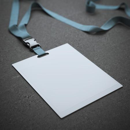 Blank Plakette mit Nackenbügel Standard-Bild