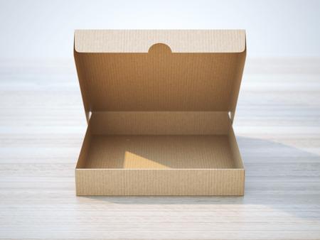 carton: Caja de cartón abierta Foto de archivo