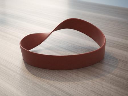 elasticidad: Banda de la mu�eca de goma roja Twisted