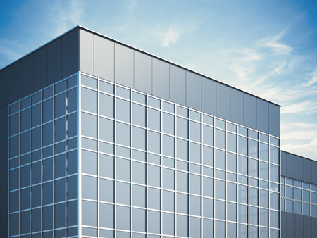 Modern business building. 3d rendering photo