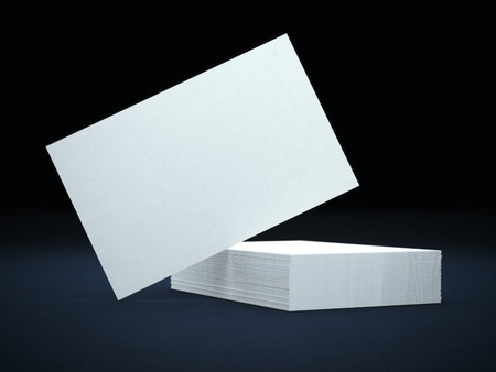 blank business cards Imagens