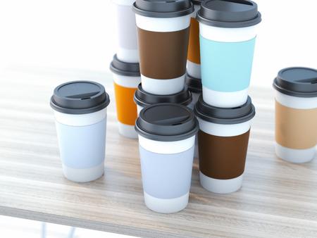 コーヒー カップを奪う 写真素材