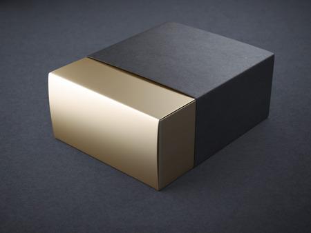 블랙과 골드 상자 스톡 콘텐츠 - 40653973