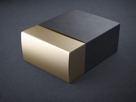 packaging design: Black and gold box