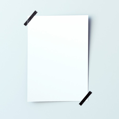 piece of paper: White piece of paper attached to the wall