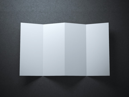bends: White sheet of paper with lines on bends