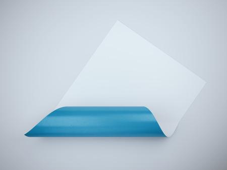 bended: Bended white sheet with blue inner side