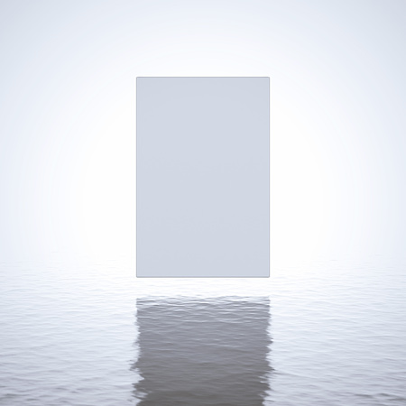 fog white: Blank white canvas over the water in the fog