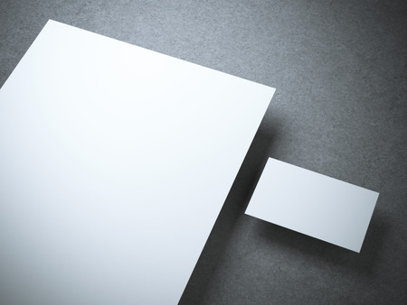 corporative: Blank mockup with business card. 3d rendering