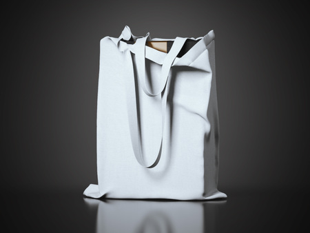 reusable: Modern package in the gray fabric bag