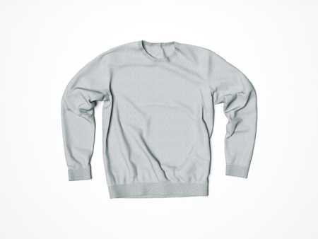 Gray blank hoody in white studio. 3d rendering