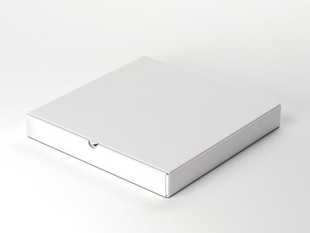packer: White carton package on bright floor. 3d rendering
