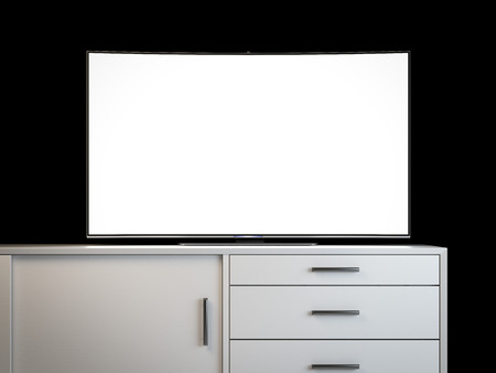 tv screen: Modern tv with blank screen. 3d rendering