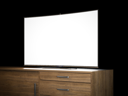 tv screen: Tv with blank screen. 3d rendering