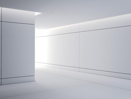 Science lab modern interior. 3d rendering