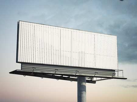 Blank outdoor advertising billboard. 3d rendering 版權商用圖片