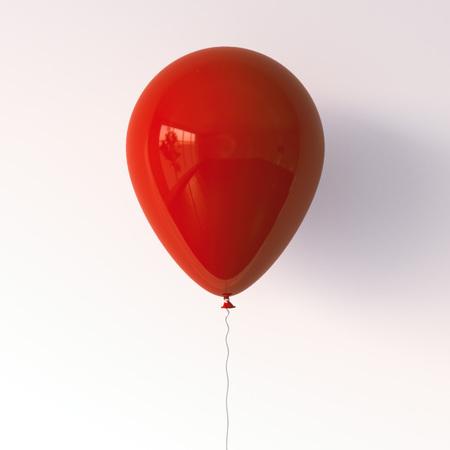 빨간 풍선. 3 차원 렌더링