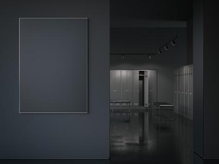Cadre photo noir big à l & # 39 ; image du rendu 3d Banque d'images - 80416218