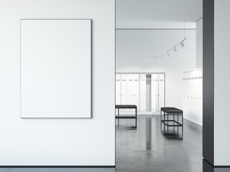 Big white picture frame. 3d rendering
