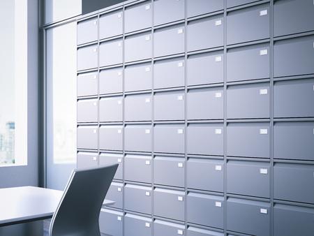 Gesloten filing kast. 3D-weergave