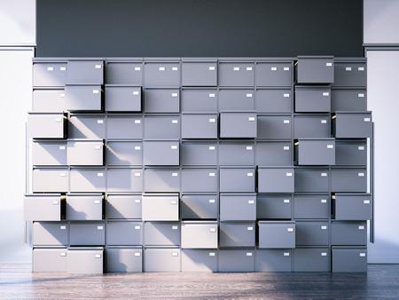 Schedario aperto Rendering 3D Archivio Fotografico - 80540150