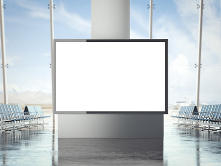 Bannière lumineuse dans le rendu 3d de l & # 39 ; infini Banque d'images - 80371268