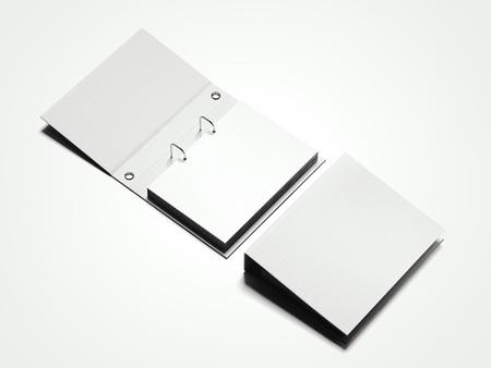 White folder with sheets. 3d rendering Standard-Bild