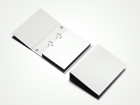 White folder with sheets. 3d rendering Stok Fotoğraf