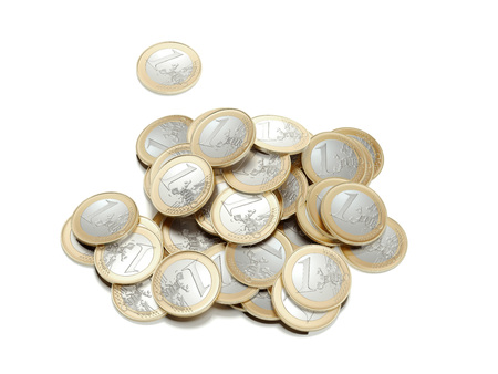 Pile of coins. 3d rendering