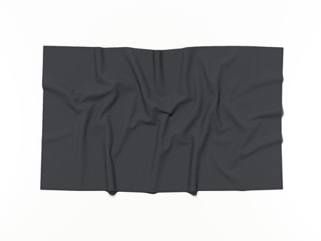 Black cotton banner. 3d rendering