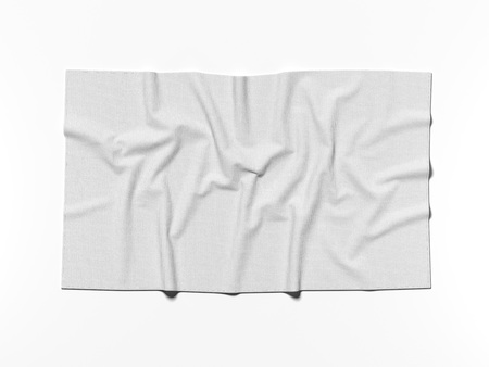 White cotton banner. 3d rendering Stock Photo - 80523751