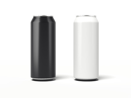 Two Aluminum Can. 3d rendering