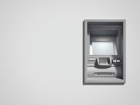 ATM machine. 3d rendering