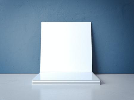 空白の画像フレームのスタック。3 d レンダリング 写真素材