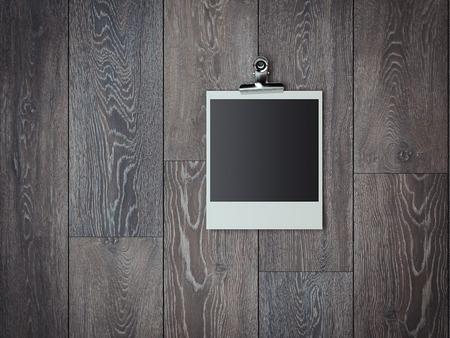 Blank photo frame. 3d rendering