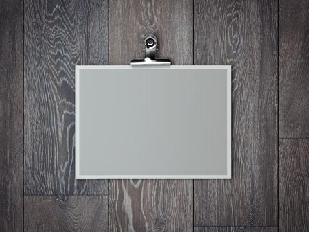 Blank wide photo frame. 3d rendering